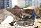 Продовжується будівництво бювету на Григоренка