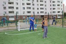 відкриття футбольного майданчика на Урлівській
