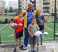 Відкриття футбольного майданчика на Урлівській 16.08.2014