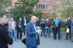 Зустріч з виборцями  вул. Срібнокільська 24