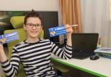 Привітали Ростика Ябченка із успішним запуском українсько-німецької вікторини, за якою можна вивчати іноземну, як дорослим так і дітям.