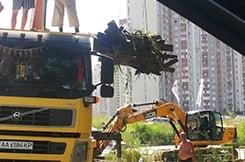 Санітарне очищення озера «Жандарка»<br />роботи ведуться з 11.07.20144