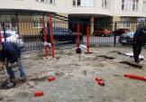 В Дарницькому районі продовжується встановлення спортмайданчиків